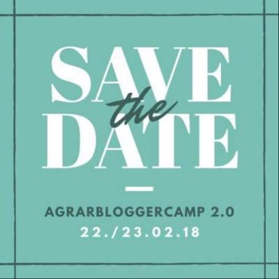 Einladung zum Agrarbloggercamp. Erstellt mit Canva.